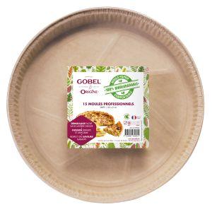 Pack 15 moules tarte 24,6 x 2,3 cm (papier professionnel biodégradable) Origine